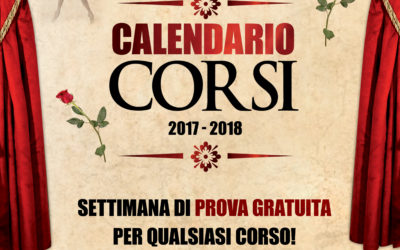 Corsi 2017/18: Prova gratuita dal 18 al 23 Settembre 2017